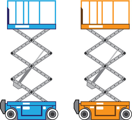 Warehouse lift vector illustration clip-art image