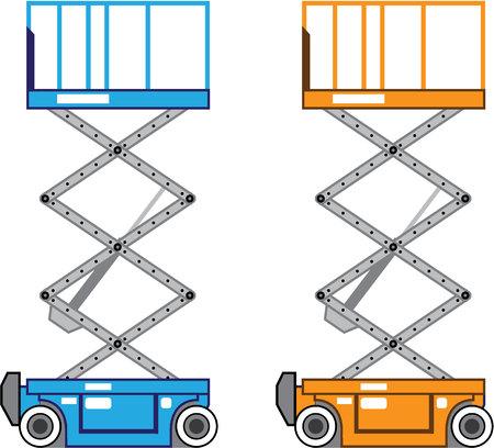 stockpile: Warehouse lift vector illustration clip-art image