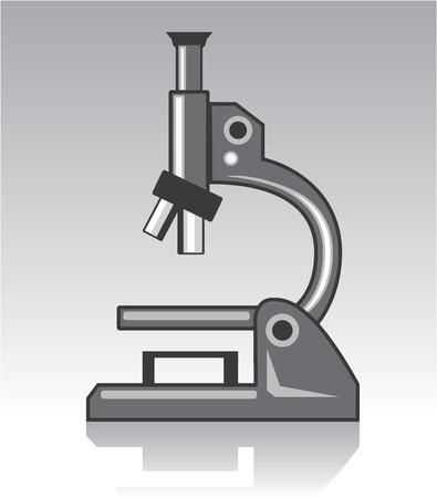 Clip-art beeld van de microscoop het vectorillustratie Stock Illustratie