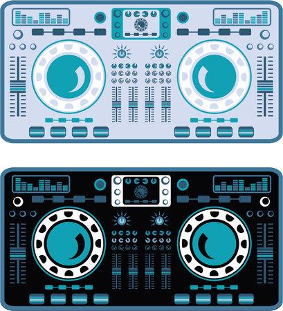 Turntables vector illustration clip-art image file