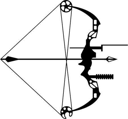 Moderne illustratie van het de boog het vectorbeeld van de jacht Stock Illustratie