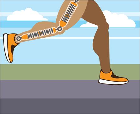 Shocks running legs vector illustration clip-art image Illustration