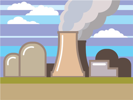 Nuclear power plant vector illustration clip-art eps