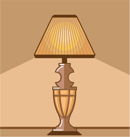 bedside: Night light vector illustration clip-art image
