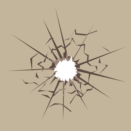 Bullet hole vector illustration clip-art image