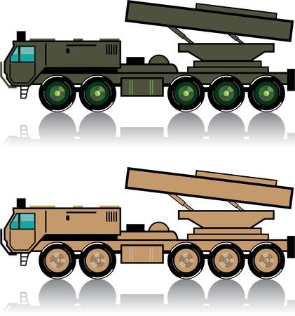 nuclear bomb: Rocket launcher vector illustration clip-art image Illustration