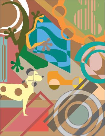 Abstract odd shapes vector illustration clip-art image