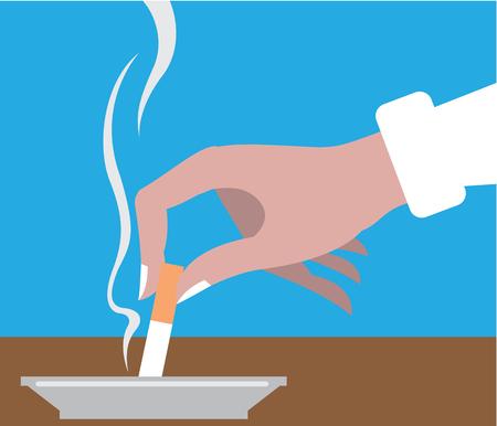 Put down cigarette vector illustration clip-art image