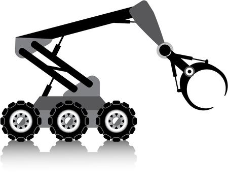 radio unit: Robotic arm vector illustration clip-art image