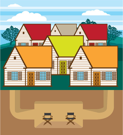 Underground bunker vector illustration clip-art eps