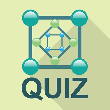 Quiz icon vector illustration clip-art image Ilustração