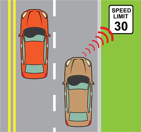 Speed limit vector illustration clip-art image eps