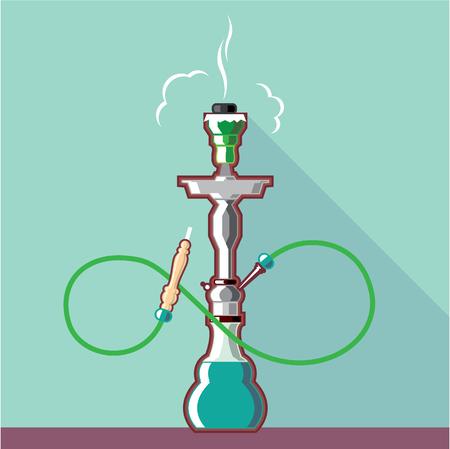 Hookah vector illustration clip-art image Illusztráció