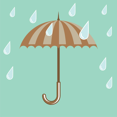 Rain drops umbrella vector illustration clip-art image