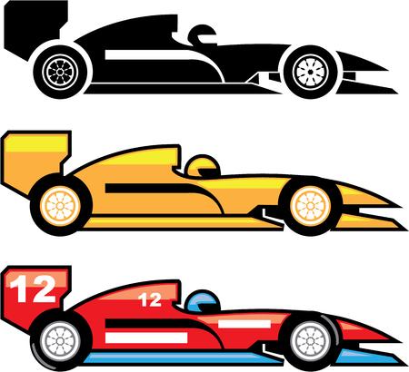 Formula racing car vector illustration clip-art image