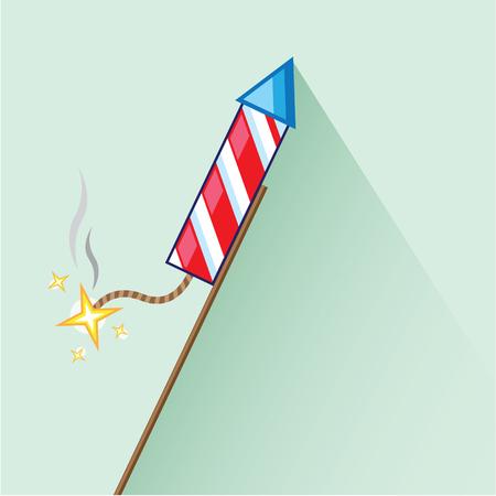 Fireworks Rocket vector illustration clip-art image 版權商用圖片 - 69460007
