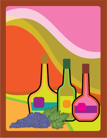 creativy: Abstract bottles vector illustration clip-art image Illustration