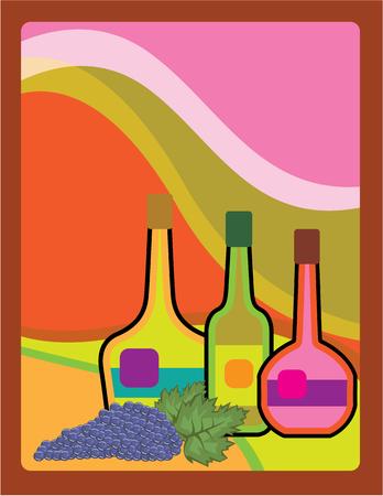 Abstract bottles vector illustration clip-art image Illustration
