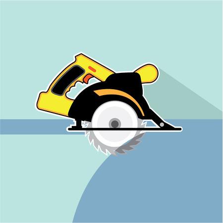 Circular saw vector illustration clip-art image