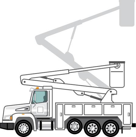 Utility truck vector illustration clip-art image eps Illustration