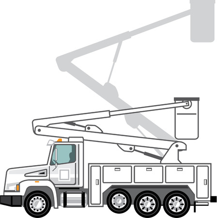 Utility truck vector illustration clip-art image eps Illustration