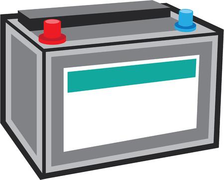 Car battery vector illustration clip-art image  イラスト・ベクター素材