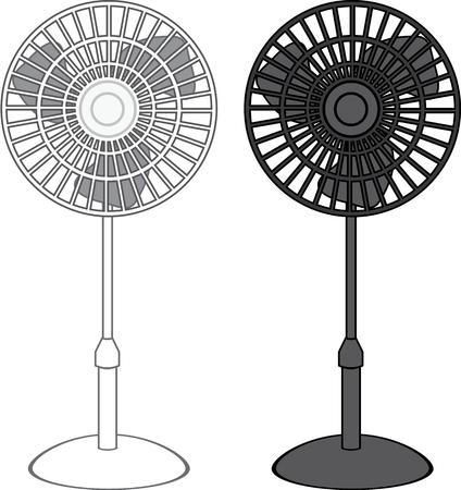 Electric Fan vector illustration clip-art image