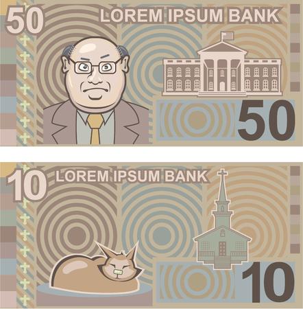 Fake money vector illustration clip-art image