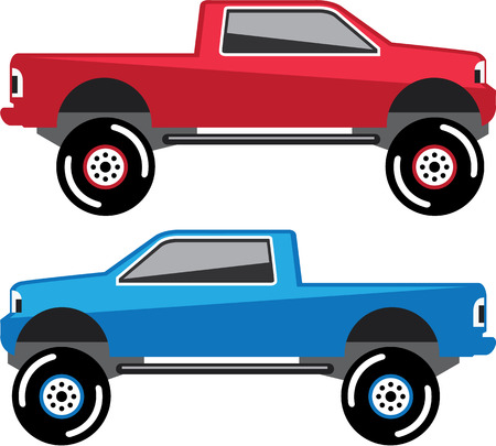 Lifted Pickup vector illustration automobile eps clip-art