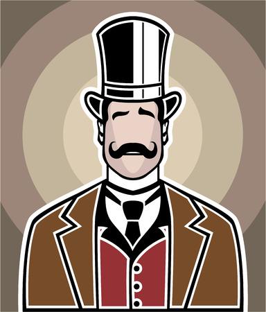 Vintage boss vector illustration clip-art image eps file Illustration