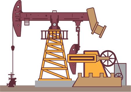 Oil pump rig vector illustration clip-art image