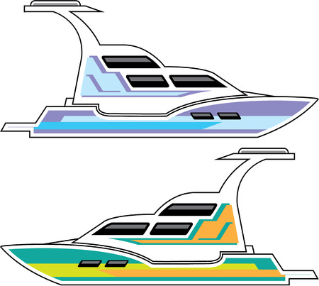 Boat vector illustration clip-art image