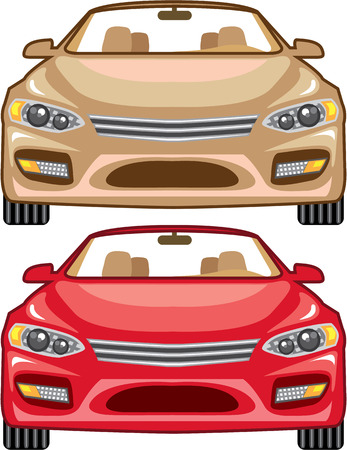 Convertible car vector illustration clip-art image Illustration