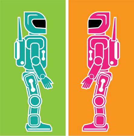 plastic soldier: Robot helper vector illustration clip-art image file