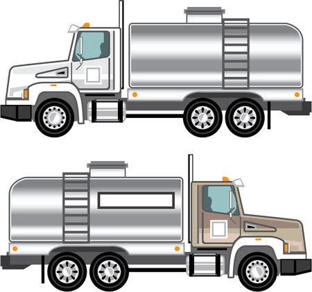 aljibe: líquidos camión cisterna de carga del vector EPS clip-art Vectores