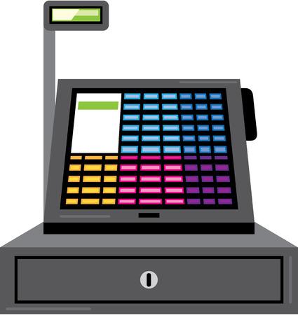 Cash register vector illustration clip-art image