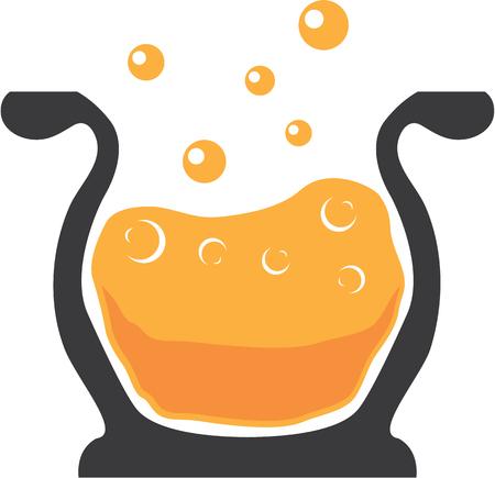 to boiling: Boiling pot vector illustration clip-art image