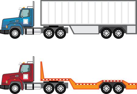 Trailer truck vector illustration clip-art image