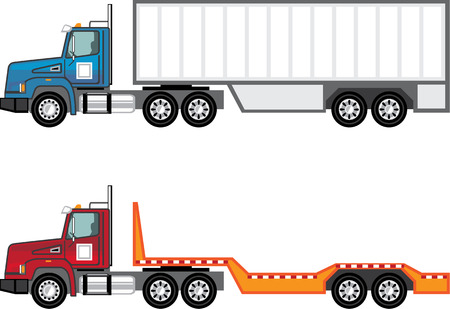 Trailer truck vector illustration clip-art image