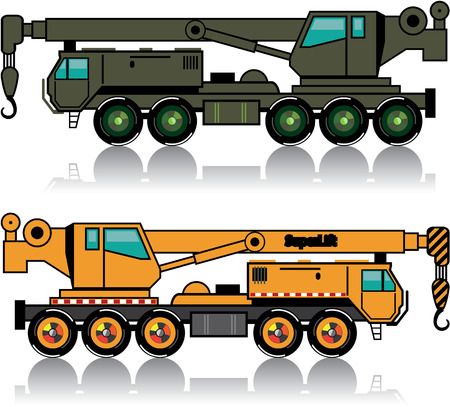 Military crane vector illustration clip-art image