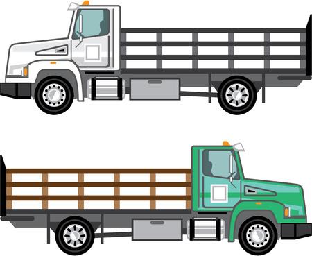 Farm truck vector clip-art image eps file