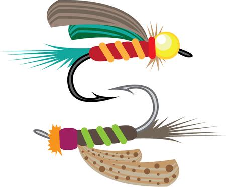 Fishing fly vector illustration clip-art image eps file