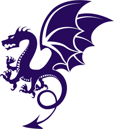 Raging Dragon vector illustration clip-art image