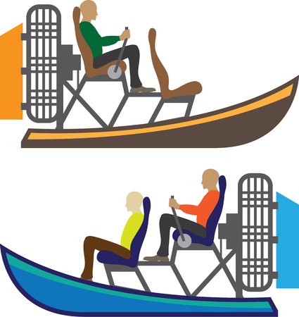Swamp boat vector illustration clip-art image