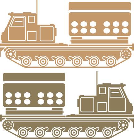 Missile Launcher vector illustration clip-art image