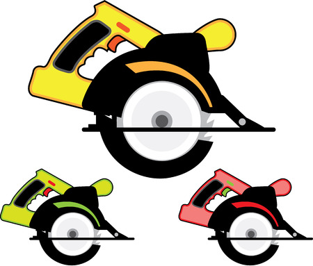 circular saw: Circular saw vector illustration clip-art image