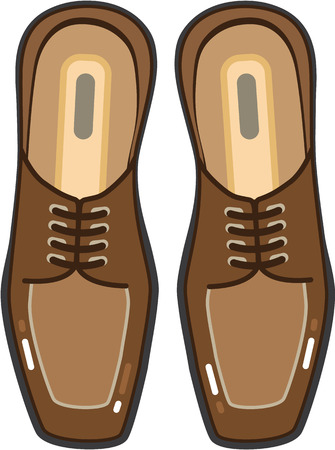 Leather pair of mans shoes vector clip-art image