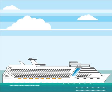 polarize: Cruise ship vector illustration clip-art image Illustration