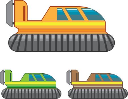 Hovercraft vector illustration clip-art image eps file