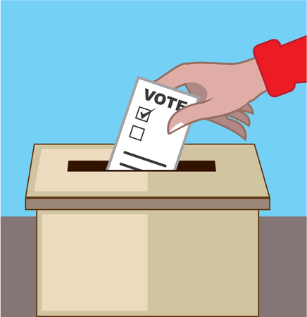 voting box: Voting box vector illustration clip-art image